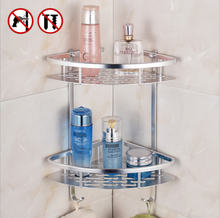 Ванная комната полки (не сверлить) Прочный Алюминий 2 3 яруса