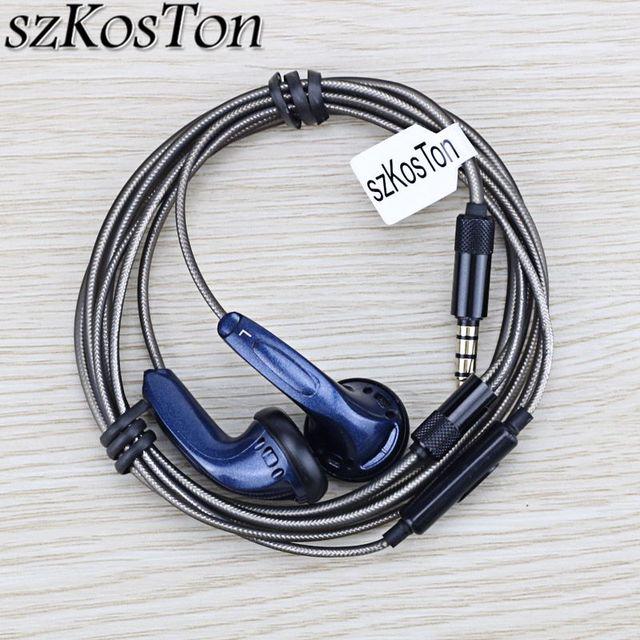 DIY HiFi Earphone 3.5mm In Ear Flat Head Earphones KMX500 Dynamic Hedaset Super Bass Earbuds for Xiaomi iPhone Smart Phones