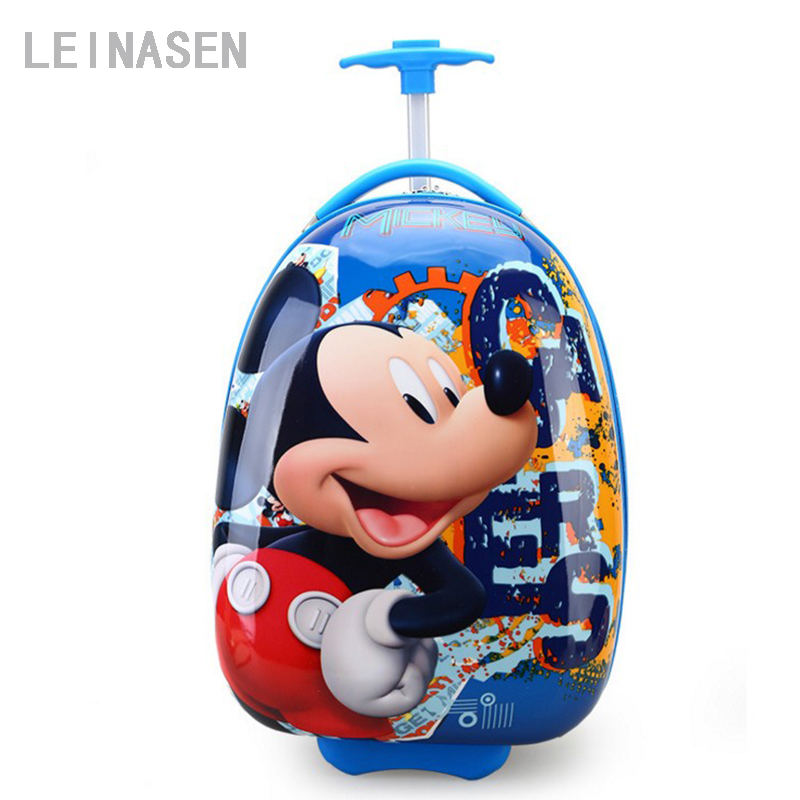 2018 Cartoon Kid's Travel Trolley Bags Suitcase For Kids Children Luggage Suitcase Rolling Case Travel Bag On Wheels vintage suitcase 20 26 pu leather travel suitcase scratch resistant rolling luggage bags suitcase with tsa lock