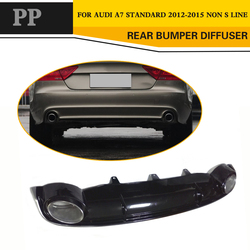 Auto Car Styling PP dyfuzor tylnego zderzaka z końcówki rury wydechowej dla Audi A7 Htachback 4-Door 2012-2015