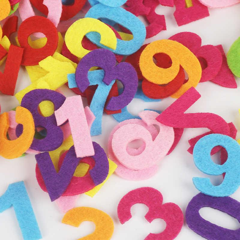 Ronde/Crown/Bloem/Aantal Letters Vilt Accessoire Patches Cirkel Voelde Pads, stof Patch Accessoires 50-100 stks/zak