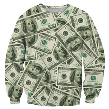 PLstar Cosmos 2017 Autumn Newest fashion Brand clothing Sweatshirts The Money Dollar 3d Print Novelty Unisex Hunned Sweatshirt
