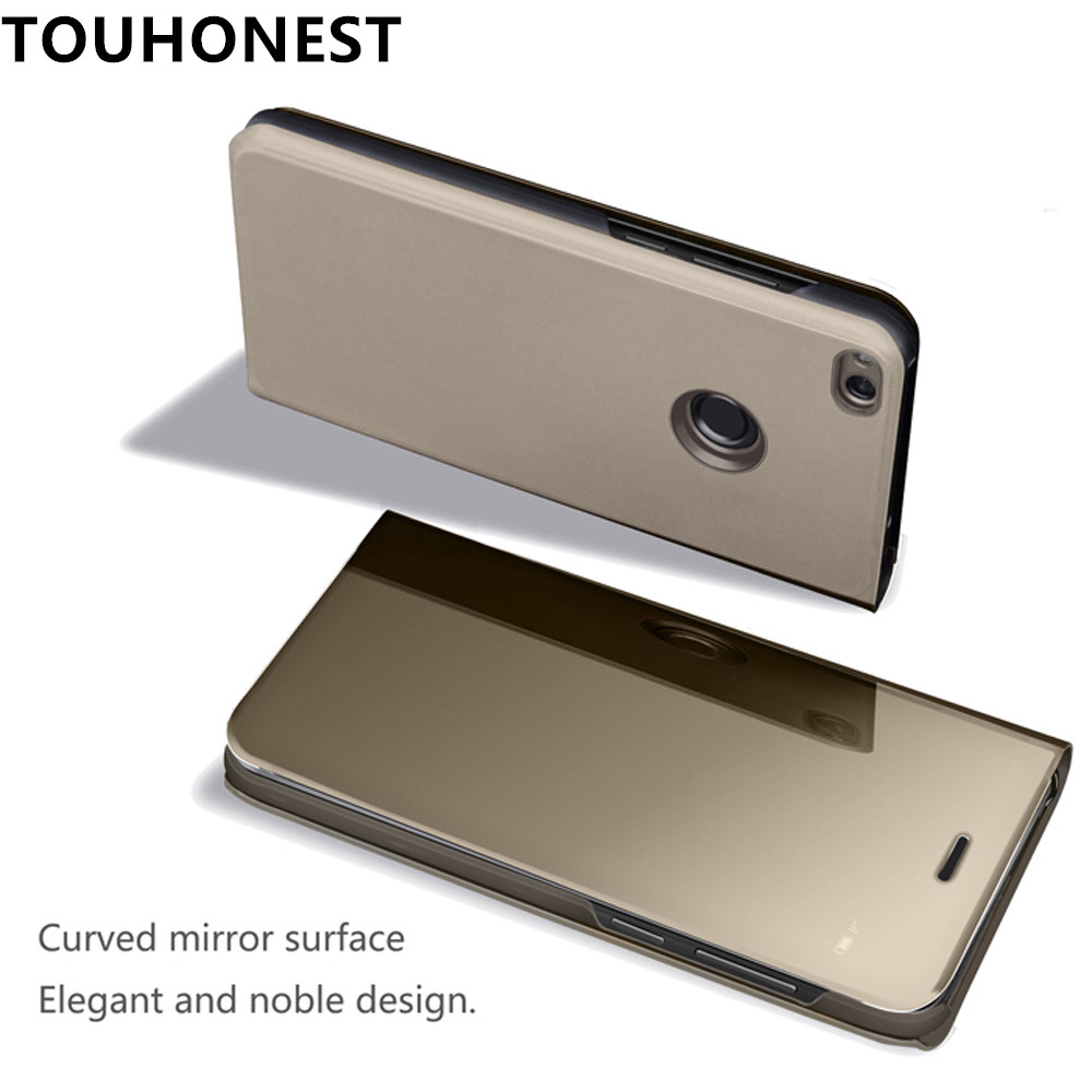 Mate 9 Mirror Clear View flip Cover For Huawei Mate 10 pro 10 lite Case For Huawei P20 Pro P10 Plus P9 P8 Honor 9 lite 8 P Smart