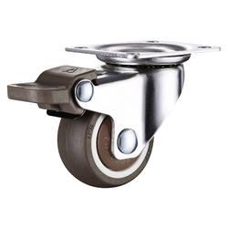 4 шт. 1,5 дюймов TPE 8*20 мм Ультра тихий резиновые колеса тормозные корпусной мебели ролики тормозного колеса с винт