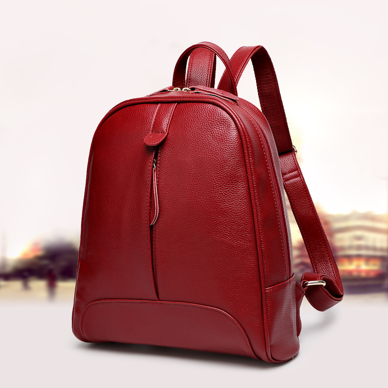 Qiaobao Fashion Women Backpack Genuine Leather Zipper Bag For Girl Summer Style Female Designer Backpack Bolsas #6
