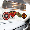 6 x Truck Car Hanging Perfumed Fragrance Air Freshener Papers For Hero Captain America Superman iron Air Freshener Car Perfume