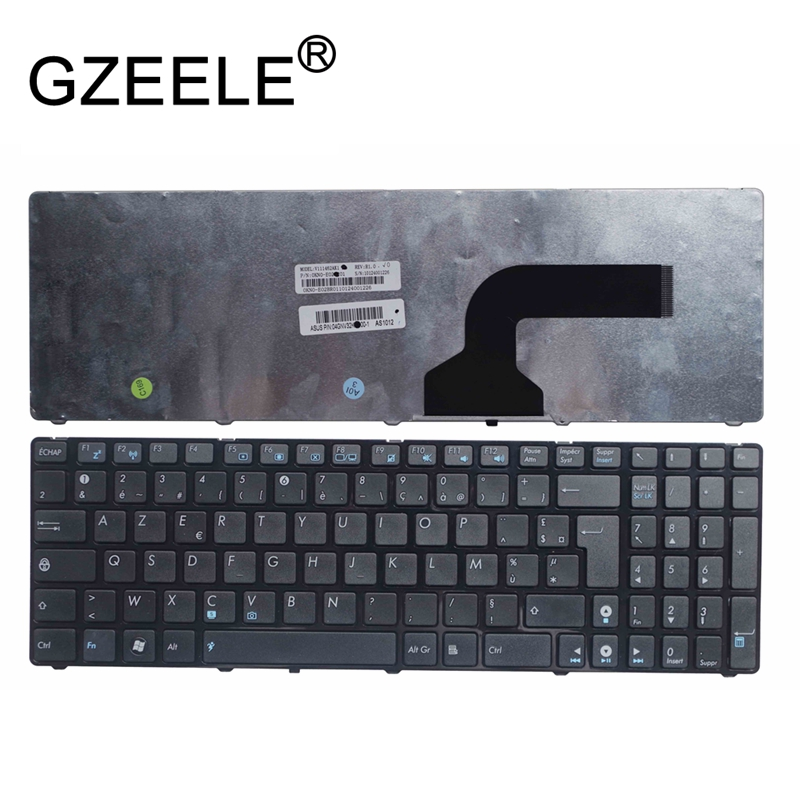 GZEELE NEW French Keyboard For Asus X73S X73SD X73SJ X73SL X75V X75VJ X75VM K73S K73SD K53 A53 N53 N60 N61 N71 N73S FR AZERTY