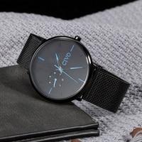 CIVO 2019 Modern Mens Fashion Watch Waterproof Leather Wristwatch Ultra Thin Top Brand Watches Reloj Hombre Analogue Clock Gift
