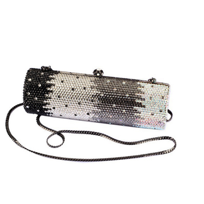 luxury fashion Bridesmaid full Crystal black white Evening Purses Handbags Wedding Party Minaudiere Clutch Bag messenger bags in Top Handle Bags from Luggage Bags