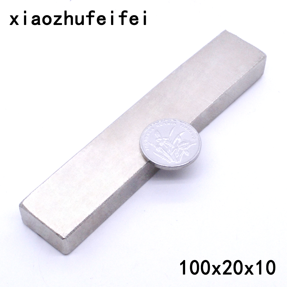 1 x Big Bulk Super Strong Block Magnets Rare Earth Neodymium 100 x 20 x 10 mm 100*20*10mm 100x20x10mm super strong rare earth re magnets 10mm x 1mm 100 pack