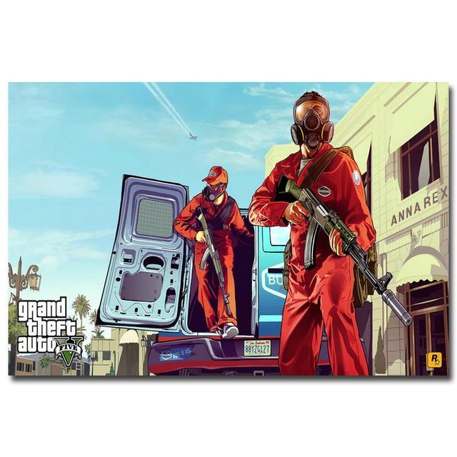 Шелковый Плакат Гобелен Grand Theft Auto V Вариант 10