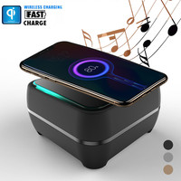 Portable Mini Retro Bluetooth Speaker and QI Wireless Charger For iphone Xs/Max
