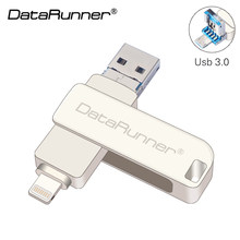 DataRunner Usb unidad Flash Usb 3,0 OTG Pen Drive 8G 16G 32G 64G 128G Pendrive micro Usb para el iPhone/iPad/Android/Tablet PC(China)