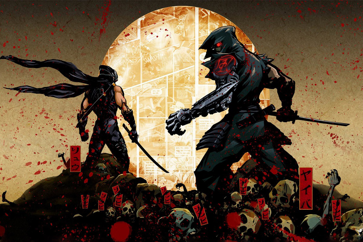 Yaiba Ninja Gaiden Z cyborg arm DM924 wall art canvas fabric poster ...