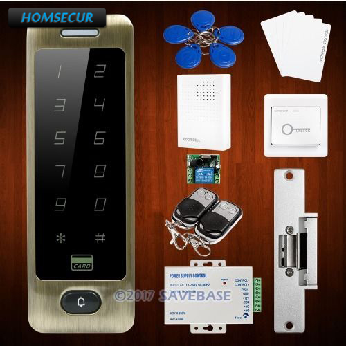 цена HOMSECUR Waterproof Wiegand 26/34 Anti-Vandal Access Control System With 8000 User Capacity