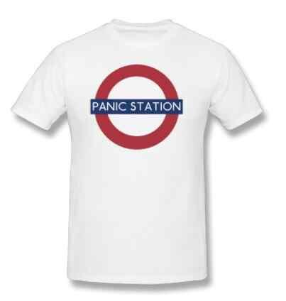 ミューズ Tシャツ男性の手紙プリントパニックステーション音楽 Tシャツ夏のビーチ Tシャツ男性の Tシャツ半袖カジュアル Tシャツ