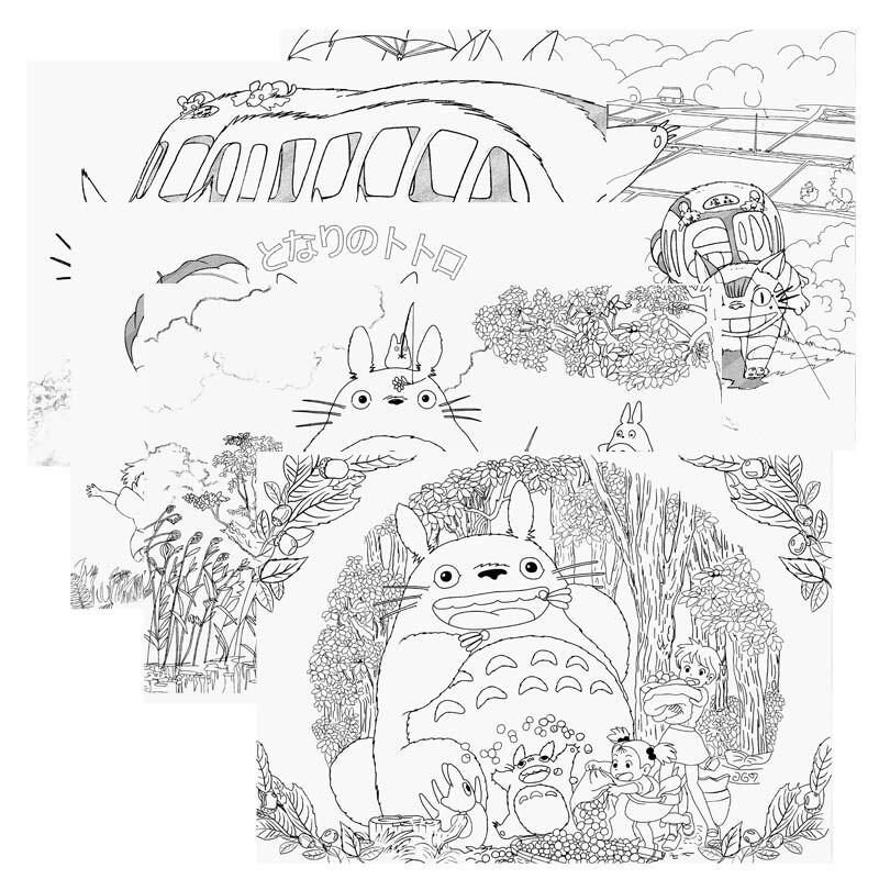 Anime mi vecino Totoro libro para colorear para niños adulto aliviar ...