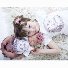 Одинаковые комплекты для семьи; хлопковая одежда для маленьких девочек; боди с короткими рукавами; футболка; хлопковая одежда