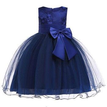 2506ea0bb5c Filles d anniversaire floral princesse parti robe enfants de Fleur De Bébé  Robe bébé fille d été tutu robe enfants vêtements Robe de mariée
