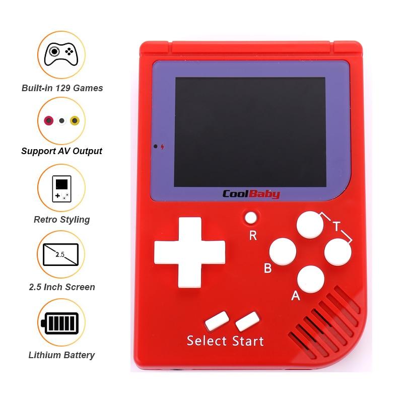 купить New Mini Retro Handheld Game Player For FC Games Built-in 129 Different Classic Childhood Games Video Game console Kids Gif по цене 1155.28 рублей