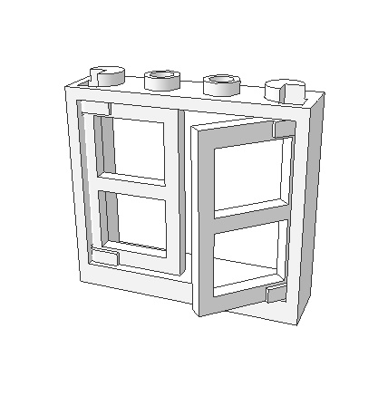 Elements Brick Parts 60594 Window 1x4x3 Classic Piece Building Block Toy Accessory Bricklink YI12