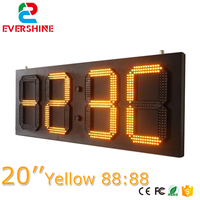 20 Outdoor 4 Digits 7 Segment Clock LED Digital Display yellow Color LED Time / Data Temperature Signs