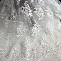 Wedding Dress Lace Decoration Fabric Three Dimensional Flower Beading Handmade Diy Material Embroidery Accessories RS1228