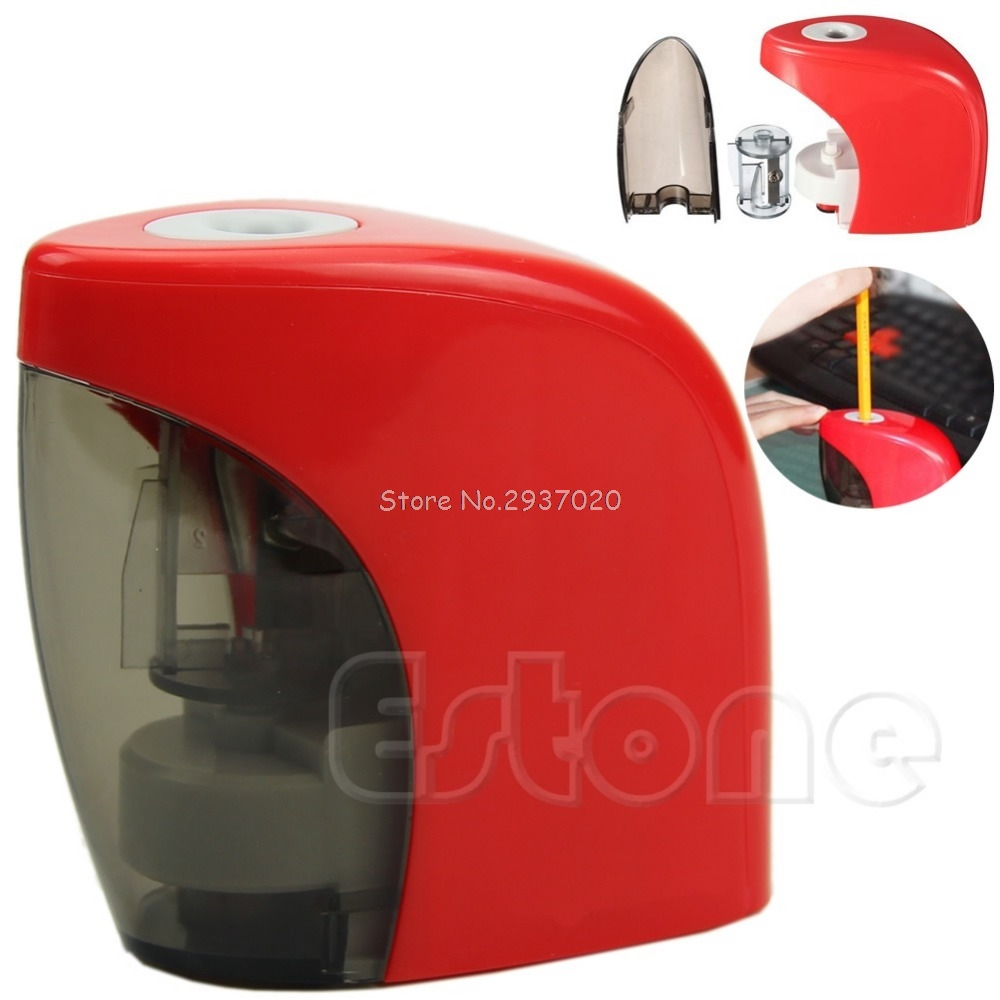 Red Automatic Desktop Electric Touch Switch Home School Office Pencil Sharpener D14Red Automatic Desktop Electric Touch Switch Home School Office Pencil Sharpener D14