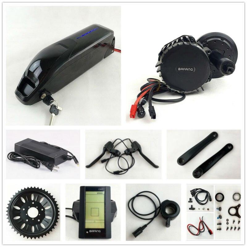 BBS03/BBSHD Bafang/8Fun 48 V 1000 W moteur électrique Kit de conversion de vélo avec cellule Sanyo 48 V 14Ah li-ion batterie pac