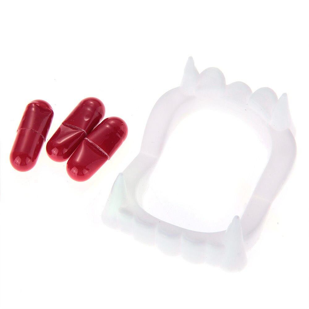 3Pcs/lot Halloween and April Fool's Day Joke Horror Prank Toys Capsules Fake Blood Pill Fancy Dress Vampire