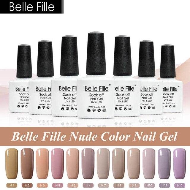 12 color nude Uñas de gel polaco holographic esmalte de uñas Glitter ...