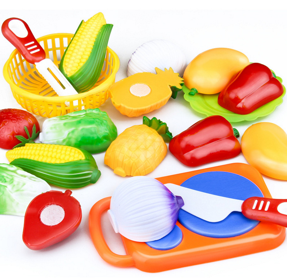 12pc/Set family toy kitchen little girl vegetables and fruits cutting educational toys Kid Boy Girl fun Toy Gift