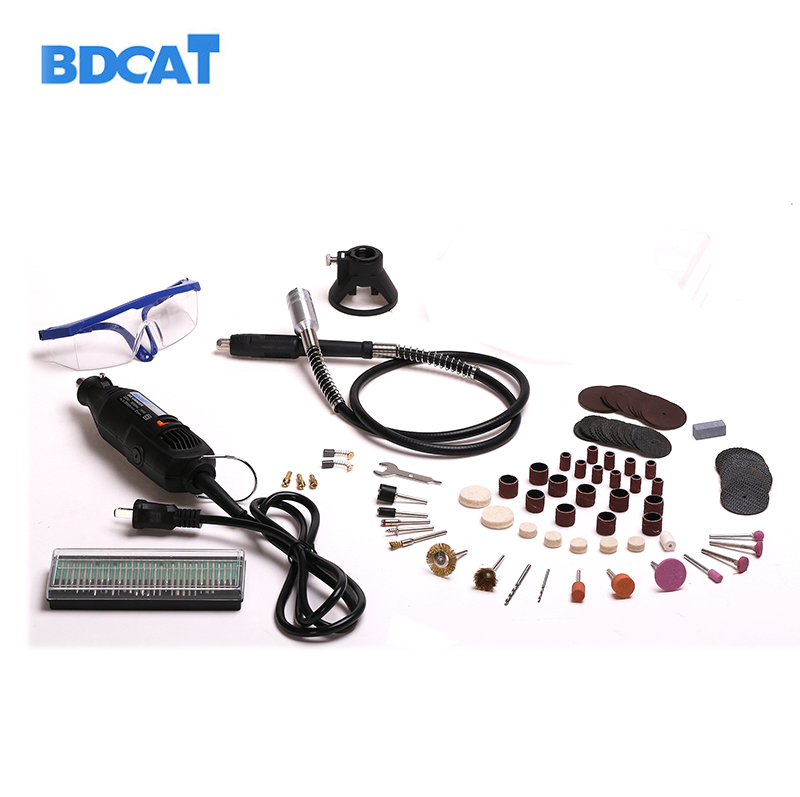 BDCAT 220V 180W Electric Dremel Variable Speed Rotary Tool Mini Drill with Flex Shaft and 140pcs Power Tools accessories set electric dremel mini grinder diy hand drill machine power tool with dremel accessories soft shaft variable rotary engrave
