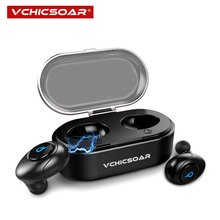 VCHICSOAR U8 Mini TWS Wireless Bluetooth Earphone Headphones Bluetooth 4.2 Headset Stereo Noise Reduction with Mic Charging Box newest business bluetooth earphone stereo handsfree noise reduction bluetooth headset wireless headphones with storage box