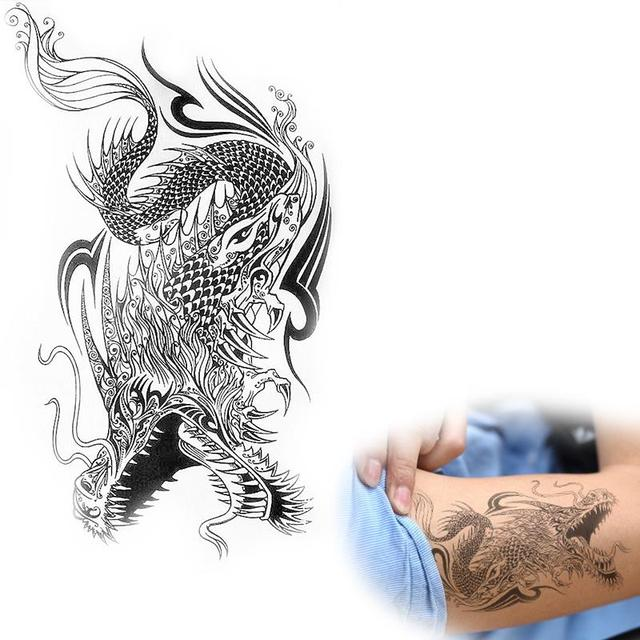 496584adc Good quality men's dragon tattoo stickers waterproof temporary tattoo body  art painting ax174 make you cool tattoo