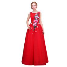 Real Photo Vintage 2016 Fashion Rose Pattern Red Wedding Dresses For Bride Floor Length Tulle Bridal Gowns For Weddings Party