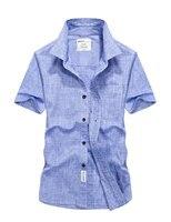 Plus Size XXXXL Summer Men S 100 Cotton Shirts Tops Solid Color Dress Short Sleeve Shirts