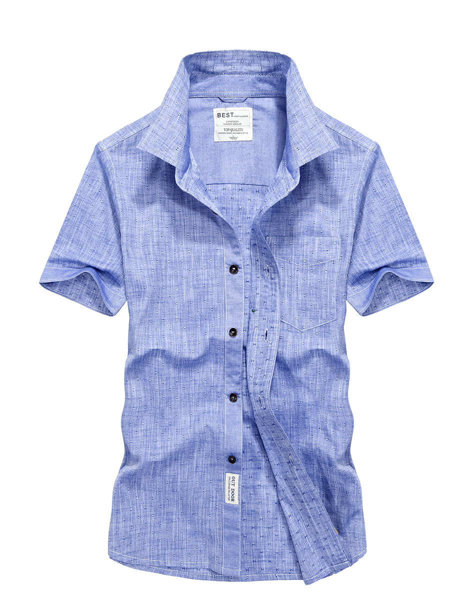 2017 plus size xxxxl summer men 39 s linen shirts tops solid for Solid color short sleeve dress shirts