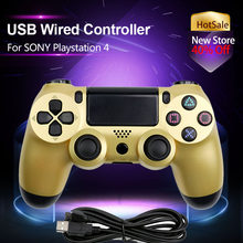Dualshock Wired Controller For SONY Playstation 4 Console Gamepads Support Vibration Compatible PS4/PS3/PC 8 Color 1.8M USB(China)