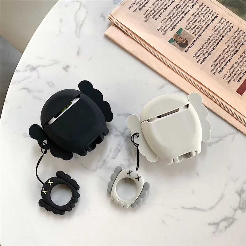best loved 8444c 65e2c Luxury fashion brand Kaws XX Silicone Bluetooth Wireless Earphone Case For  AirPods Box cute sexy Headset Cases Earphone cover
