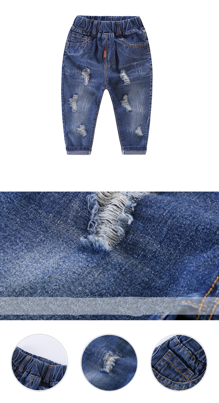 HTB1Rv1fXvfsK1RjSszbq6AqBXXaX - 2019 Autumn Fashion Baby Boys Pants Children's  Hole Jeans Cartoon Source High Waist Pants for Boys Kids Clothes