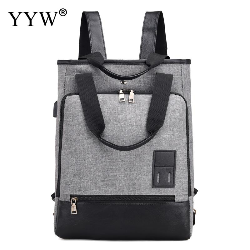 Women Ladies Concise Backpack Famous Large Capacity Shoulder Bag Tote Gray Backpack Fashion Crossbody Satchel Teenager Girl Bag