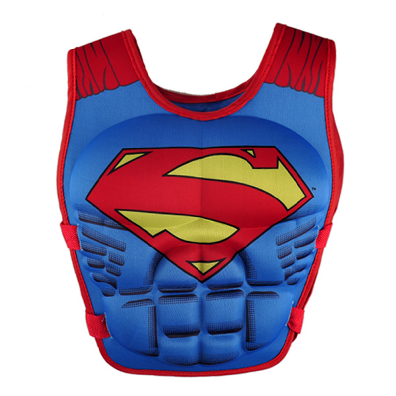 새 구명 조끼 조끼 슈퍼맨 배트맨 스파이더 맨 수영 아기 소년 소녀 낚시 슈퍼 히어로 수영 원형 수영장 액세서리 반지