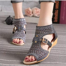 summer help fish mouth hollow female Wedges high heels. US  13.59   Pair Free  Shipping ea01c1e5afca