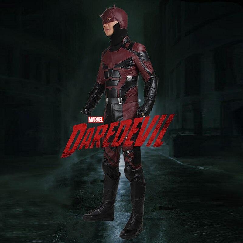 Daredevil Cosplay Costume Matt Murdock Cosplay Clothing Superhero Outfit Props Adult Men Halloween Party Full Set
