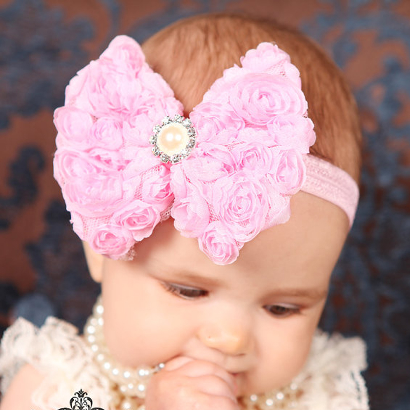 TWDVS Flower Girls Bow knot Headband Girls Flower Head Bands Hair Accessories 2017 Hair Bands Style Hot Sell HeadwearW077