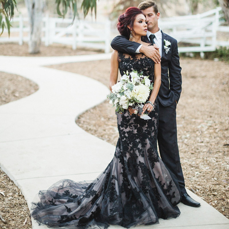 Discount Black And White Gothic Wedding Dresses Real: Online Buy Wholesale Gothic Wedding Dresses From China