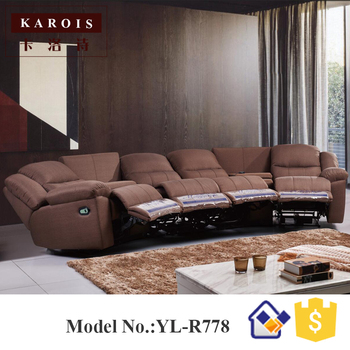 Karois R778 Home Theater Cheers Function Sofa Recliner Fabric Leather Sofa 4 Electric Recline Function 1