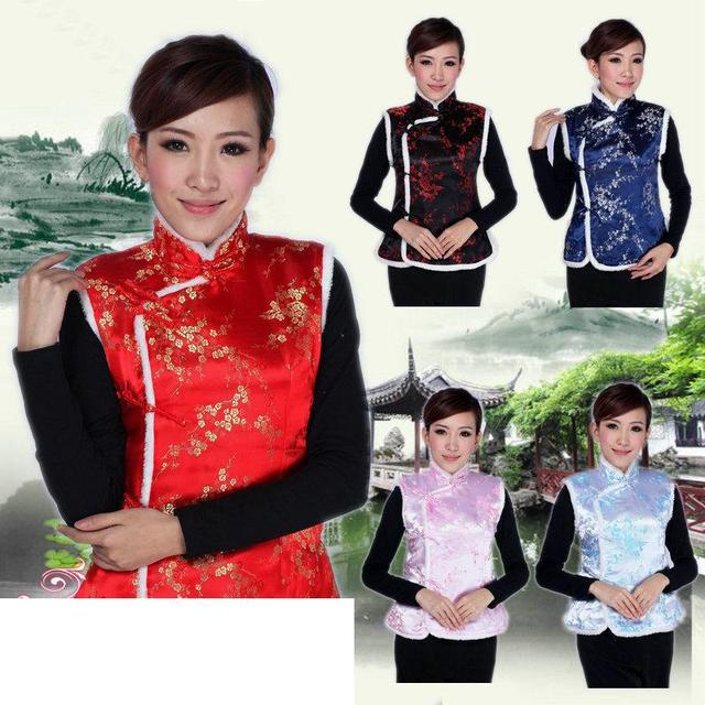 nice Traditional Chinese Clothing for woman vest Tops underwaist winter party gift