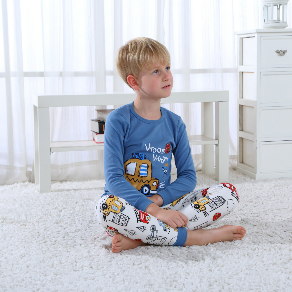 2 Pieces Kid Short Sleeve Car Print T Shirt Top And Pants Set For Toddler And Baby Boys Clothes Toddler Boys Clothing Set